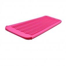 Silikoninis kilimėlis/rankovė karštoms žnyplėms laikyti, rožinis