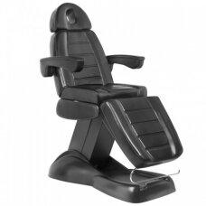 SPA kosmetologinė kėdė-lova juodos spalvos, valdoma elektra.