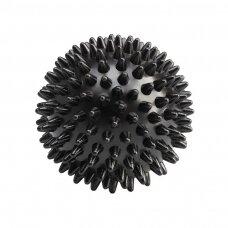 Spygliuotas masažinis kamuoliukas, juodas