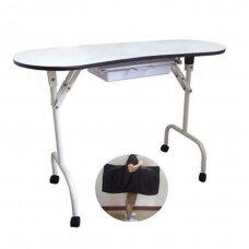 Sulankstomas manikiūro stalas su ištraukiamu stalčiuku MOD 4031 + transportavimo krepšys