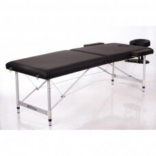 Sulankstomas masažo stalas ALU 2 (L), juodas