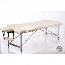 Sulankstomas masažo stalas ALU 2 (L), kreminis