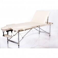 Sulankstomas masažo stalas ALU 3, kreminis