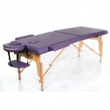 Sulankstomas masažo stalas, violetinis