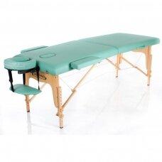 Sulankstomas masažo stalas, turkio spalvos