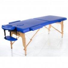 Sulankstomas masažo stalas, mėlynas