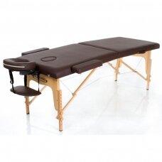 Sulankstomas masažo stalas, rudas