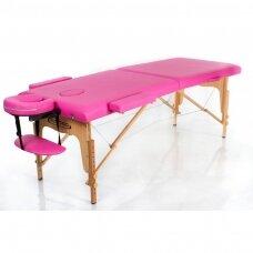 Sulankstomas masažo stalas, rožinis