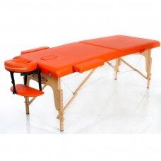 Sulankstomas masažo stalas, oranžinis