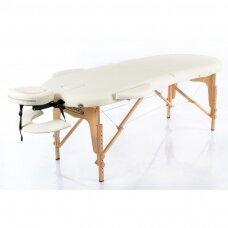 Sulankstomas masažo stalas classic oval 2, kreminis