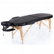 Sulankstomas masažo stalas classic oval 2, juodas
