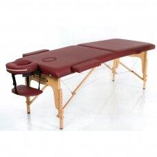 Sulankstomas masažo stalas, bordinis