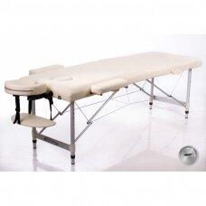 Sulankstomas masažo stalas - kušetė ALU 2 (M), kreminis
