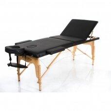Sulankstomas masažo stalas, juodas