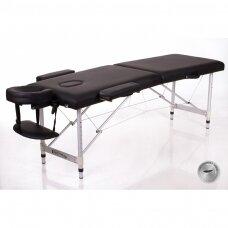 Sulankstomas masažo stalas - kušetė ALU 2 (M), juodas