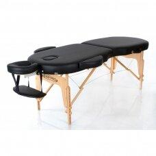 Sulankstomas masažo stalas oval 2, juodas
