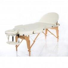 Sulankstomas masažo stalas oval 3, kreminis