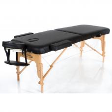 Sulankstomas masažo stalas VIP 2, juodas