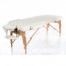 Sulankstomas masažo stalas VIP 2, kreminis