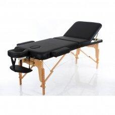 Sulankstomas masažo stalas VIP 3, juodas