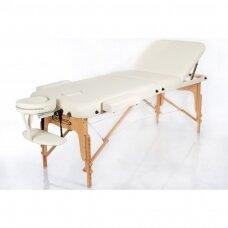 Sulankstomas masažo stalas VIP 3, kreminis