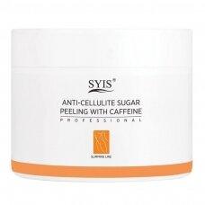 SYIS anticeliulitinis cukraus pilingas kūnui su kofeinu, 500 g