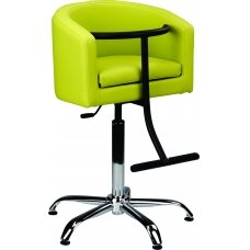 Vaikiška kirpyklos kėdė, žalia