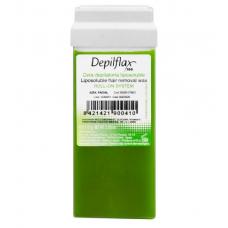 Vaškas depiliacijai su alyvuogių ekstraktu DEPILFLAX, 110 g.