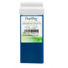Vaško kasėtė depiliacijai DEPILFLAX su azulenu, 110 g.
