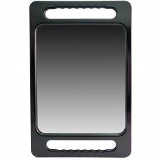 Veidrodis (rodyti klientui vaizdą iš galo) BLACK DOUBLE HAND