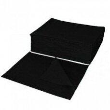 Vienkartiniai neaustinės medžiagos rankšluosčiai  70*50 cm, 50 vnt. BASIC BLACK