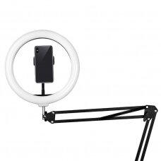 Žiedinė LED lempa tvirtinama prie paviršių RING LIGHT 10, 8W