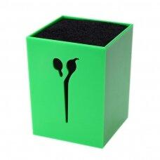 Žirklių stovas/organaizeris, žalias